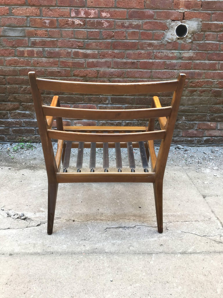 Pair of Carlo di Carli Walnut Armchairs for M. Singer & Sons For Sale 4