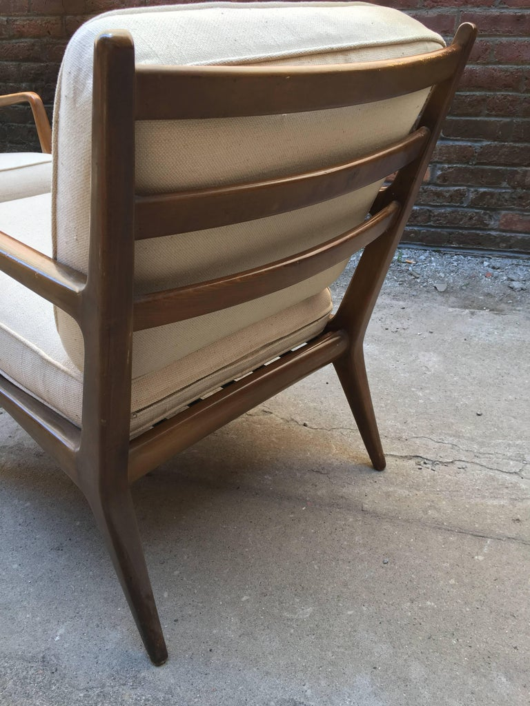 Pair of Carlo di Carli Walnut Armchairs for M. Singer & Sons For Sale 6