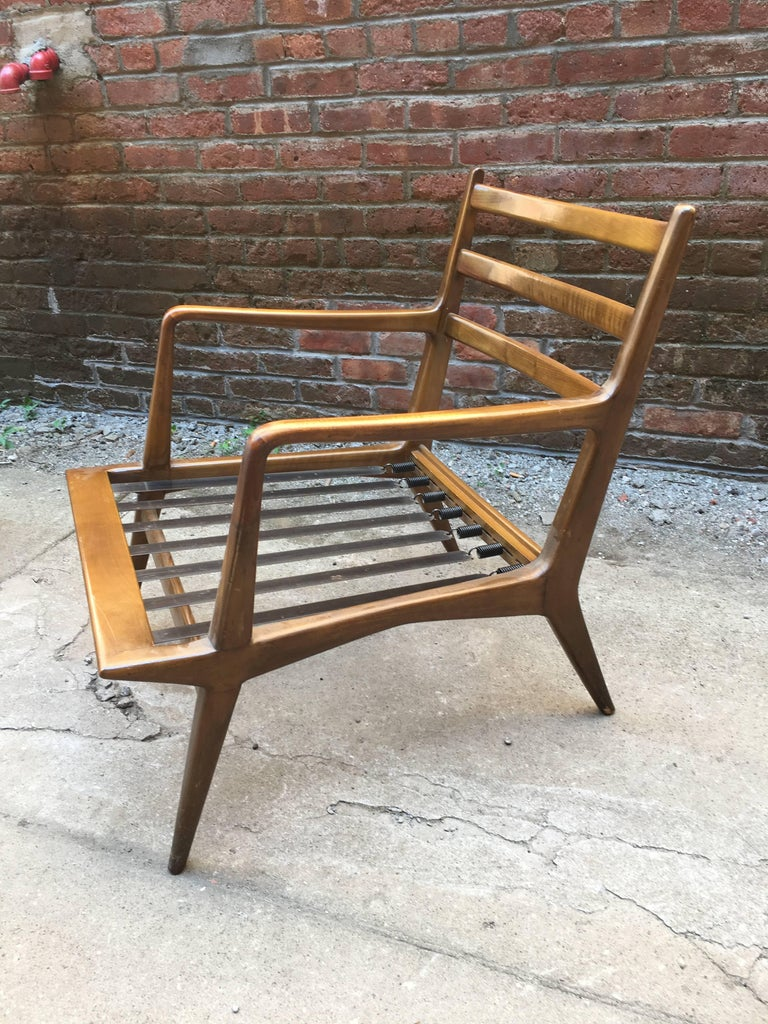 Pair of Carlo di Carli Walnut Armchairs for M. Singer & Sons For Sale 2