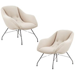 Pair of Carlo Hauner Martin Eisler Shell Chairs for Forma, Brazil, 1950s