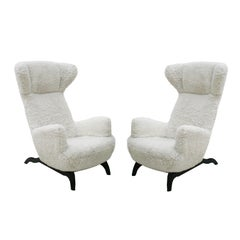 Pair of Carlo Mollino Chairs Mod. Ardea 882 Edited by Zanotta
