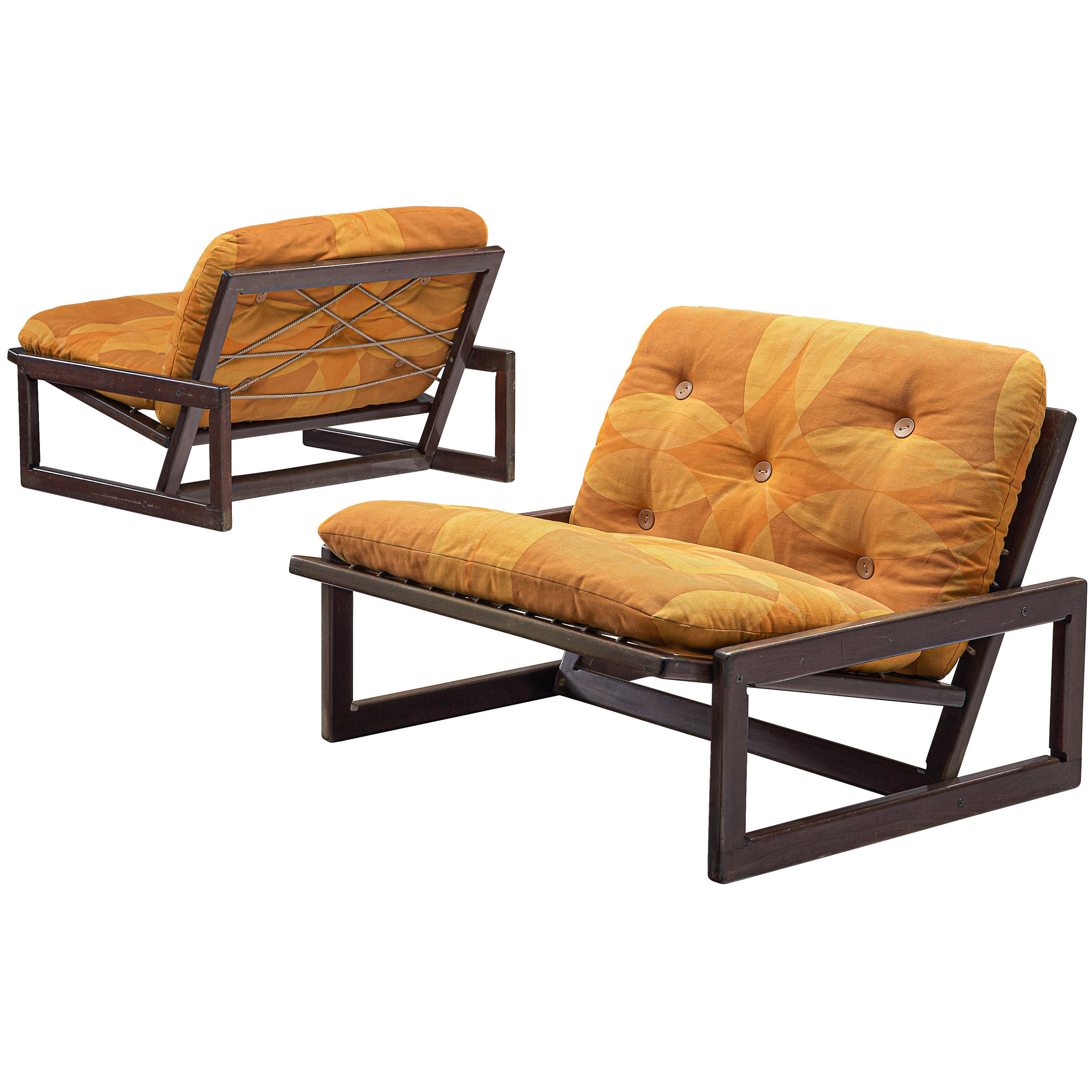 Pair of 'Carlotta' Lounge Chairs by Afra & Tobia Scarpa for Cassina