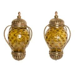 Pair of Carriage Lantern Style Wall Sconces, circa 1890