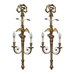 Pair of Carved and Gilded Wall Lights