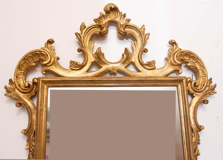 20th Century Pair of Carved and Gilt Italian Console Mirrors For Sale