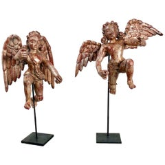 Pair of Carved Angels, Goa, circa 1750
