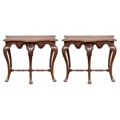 Pair of Carved Consoles by David Iatesta for John Rosselli