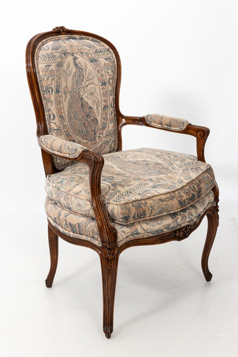 Pair of Carved French Rococo Style Armchairs For Sale at ...