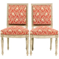 Pair of Carved Louis XVI Chairs