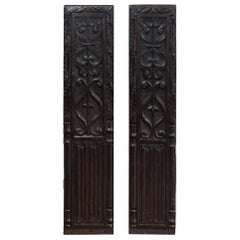 Pair of Carved Oak Panels