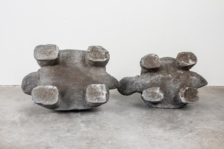 Pair of Carved Stone Turtle Sculptures For Sale 11