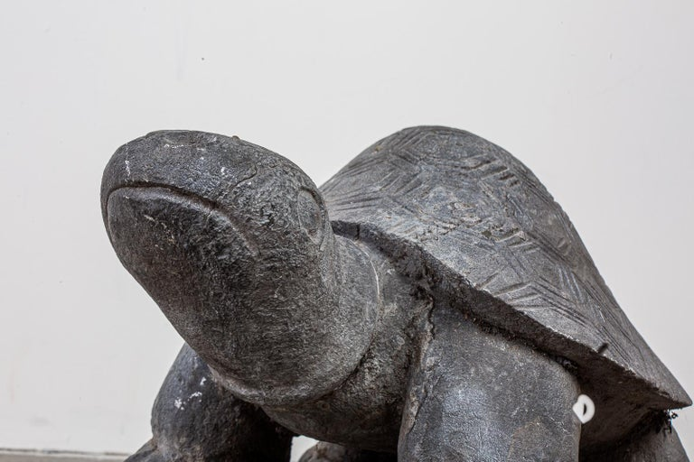 20th Century Pair of Carved Stone Turtle Sculptures For Sale