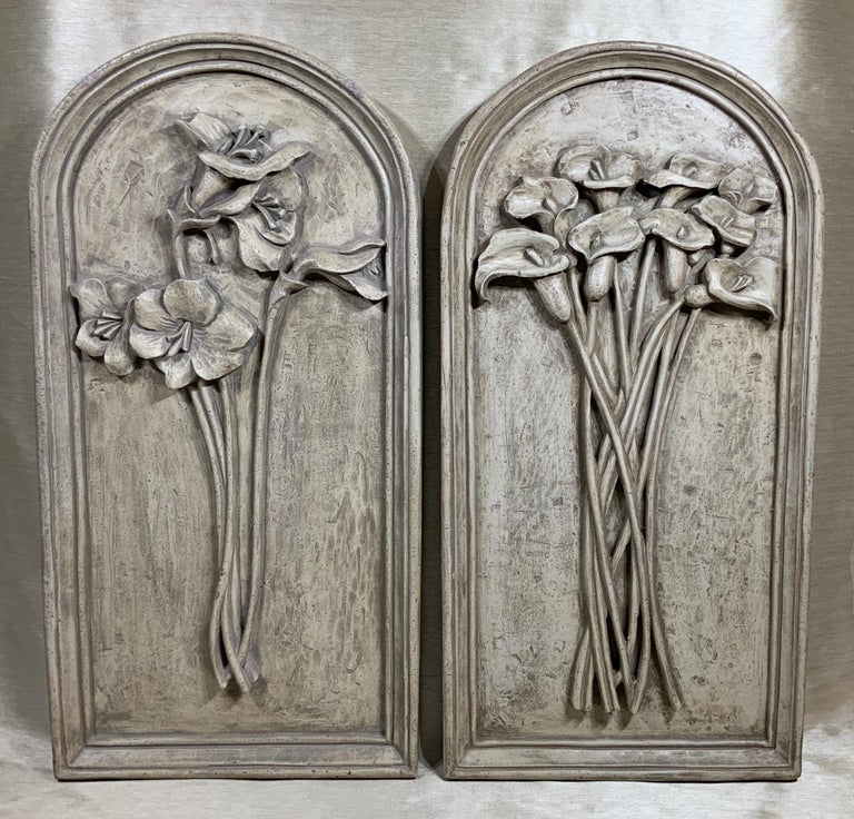 Pair of Carved Wall ‏Hanging For Sale 8
