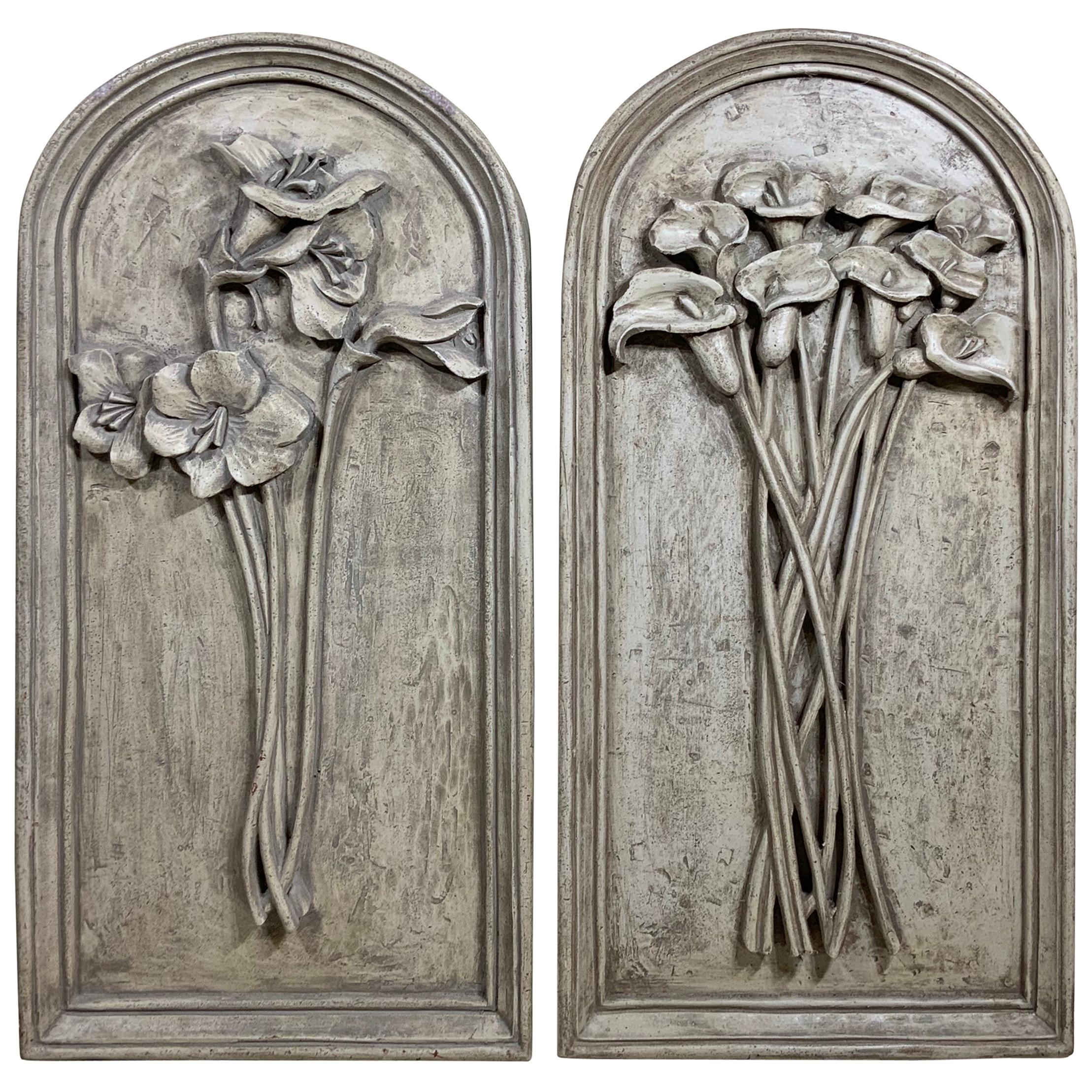 Pair of Carved Wall Hanging