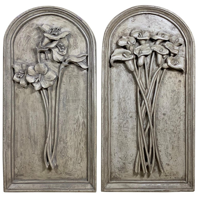 Pair of Carved Wall ‏Hanging For Sale