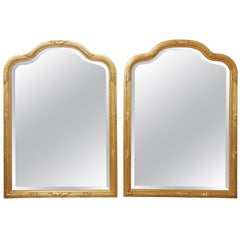 Pair of Carver's Guild Undulated Arch Mirrors