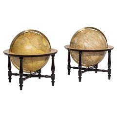 Pair of Cary's Table Globes