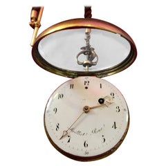Mid 18th Century Quarter Repeater Pocket Watch on a Bell by Moilliet Roux 1760