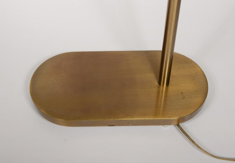 Late 20th Century Pair of Casella Brass Adjustable Reading Lamps For Sale
