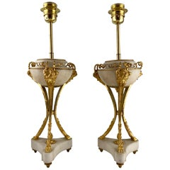 Pair of Casolettes, 18th C, Mounted as Lamps