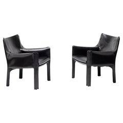Pair of Cassina Cab 414 Lounge Chairs by Mario Bellini