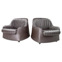 Pair of Cassina Ciprea Lounge / Armchairs by Tobia and Afra Scarpa, 1970s, Italy
