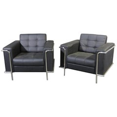 Pair of Cassina Style Cube Chairs