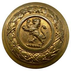 Pair of Cast Brass Lion Door Knobs