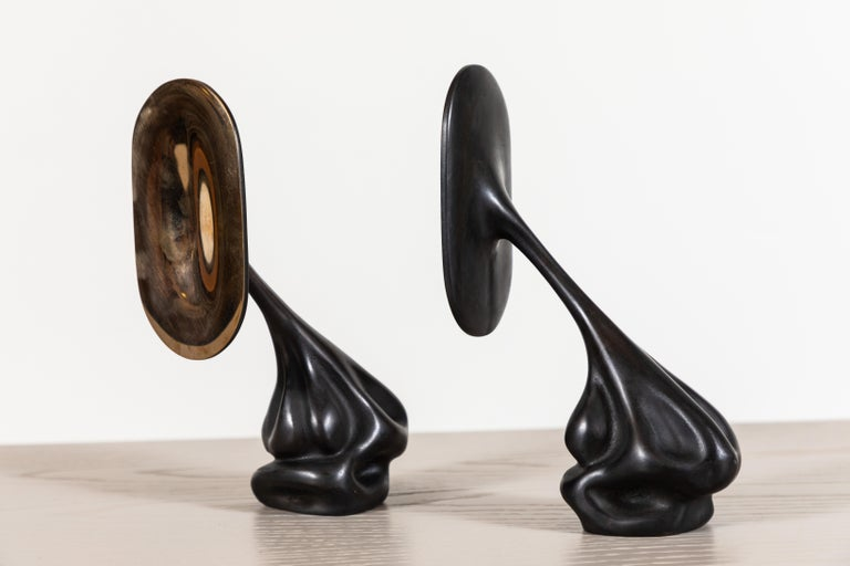 North American Pair of Cast Bronze Bookends by Artist Vincent Pocsik For Sale