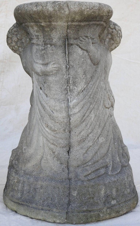 Cast Stone Cherub Pedestals Pair For Sale 4