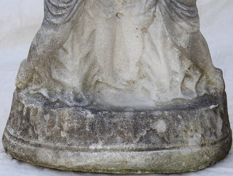 Cast Stone Cherub Pedestals Pair For Sale 9