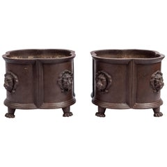 Pair of Cast Iron Planters, England, Late 19th Century