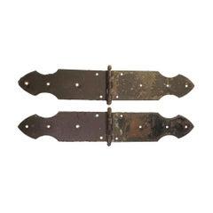 Pair of Cast Iron Strap Door Hinges