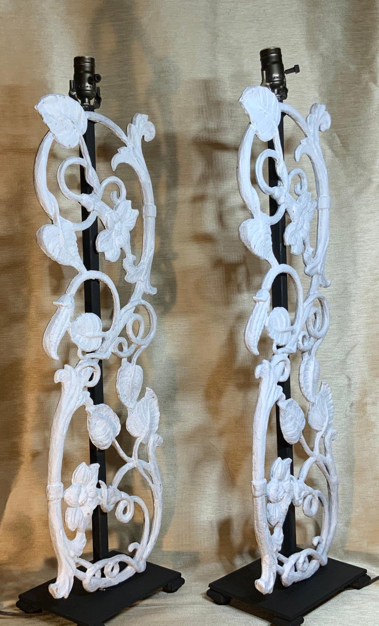 Pair of Cast Iron Table Lamps For Sale 6