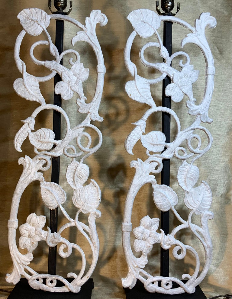 Pair of Cast Iron Table Lamps For Sale 9
