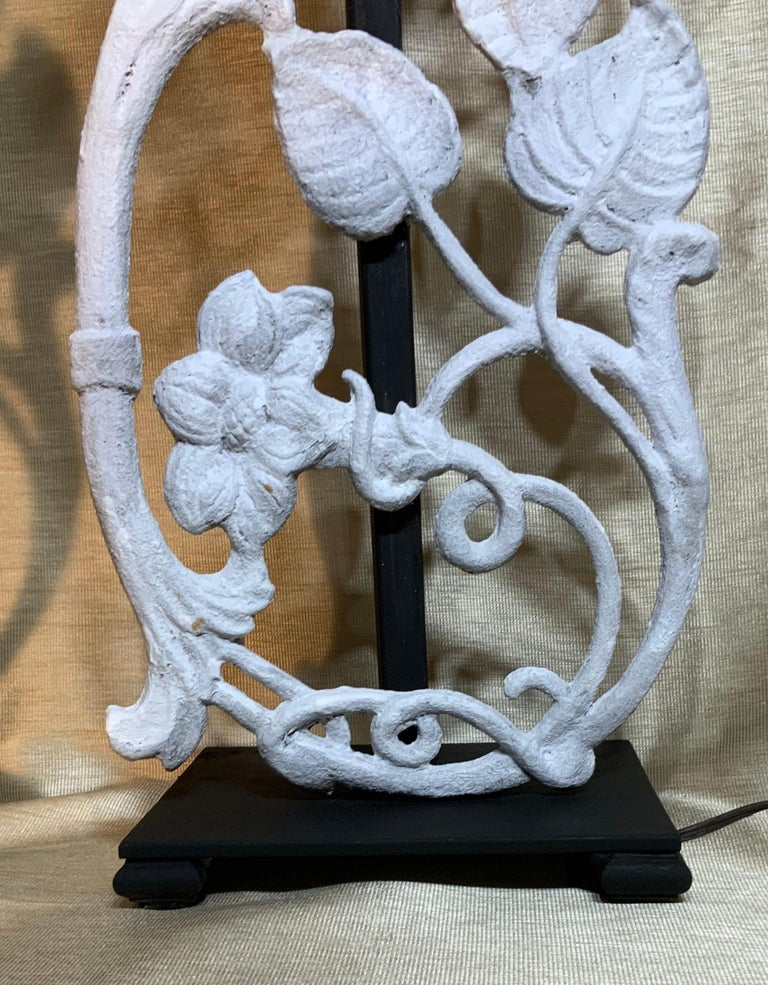 Steel Pair of Cast Iron Table Lamps For Sale
