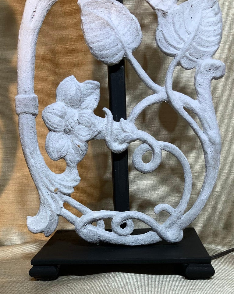 Pair of Cast Iron Table Lamps For Sale 2