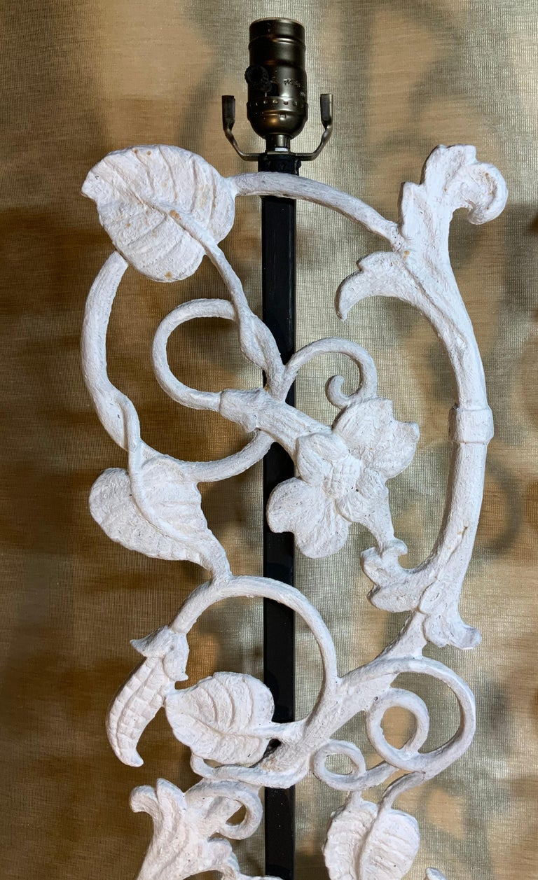 Pair of Cast Iron Table Lamps For Sale 3