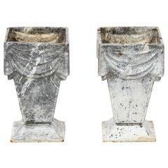 Pair of Cast Iron Vases