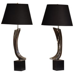 Large Gestural Mid Century Table Lamps by Laurel Lamp Co.