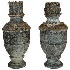 Pair of Cast Stone Garden Elements