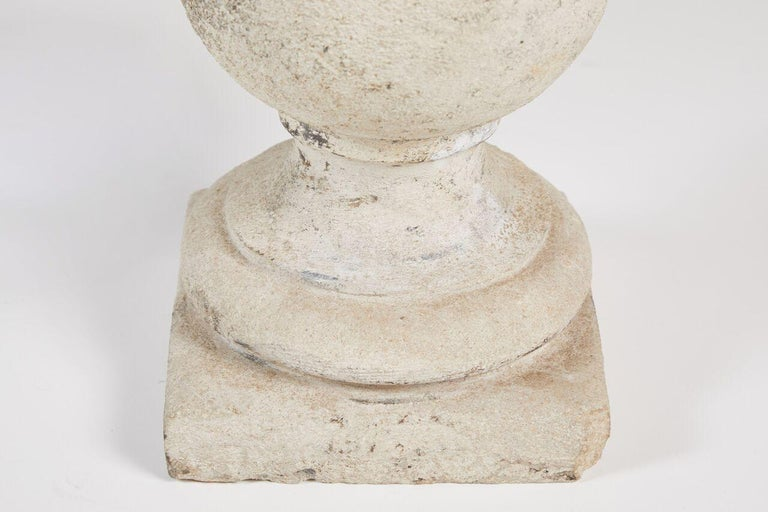 Pair of Cast Stone Lamps For Sale 3