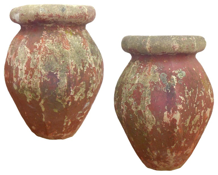 American Pair of Cast Stone Urn Planters For Sale