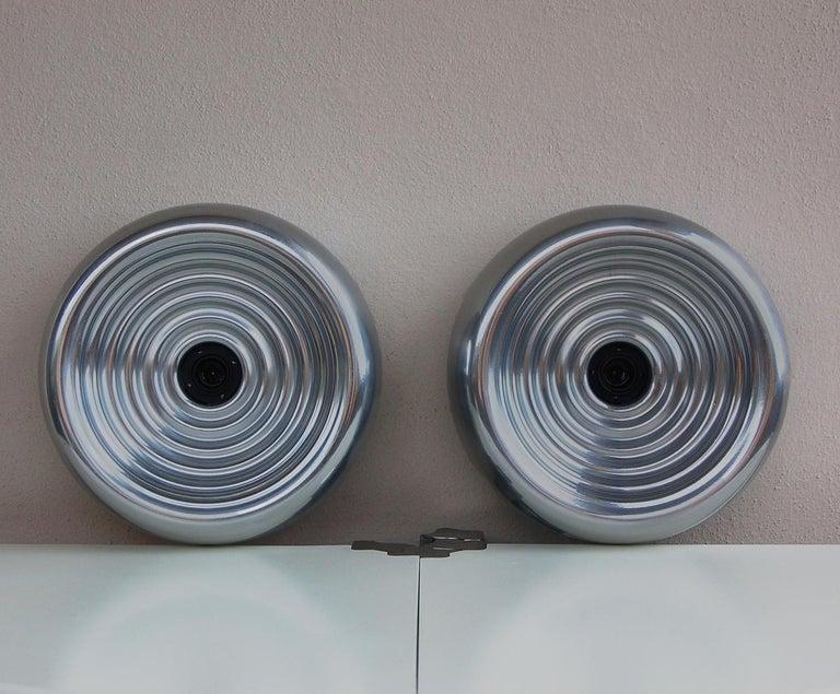 Italian Achille & Pier Giacomo Castiglioni Set of Two Padina Wall Lights for Flos For Sale