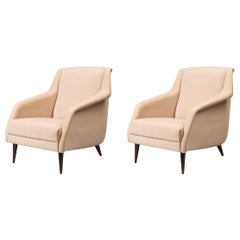 Pair of CDC.1 Lounge Chairs, Black High Gloss