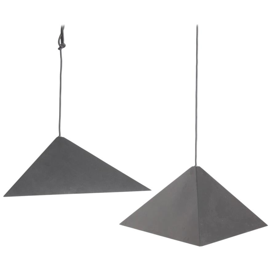 Pair of Ceiling Lamps, 1970s