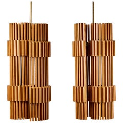 Pair of Ceiling Lamps, Anonymous, Finland, 1970's