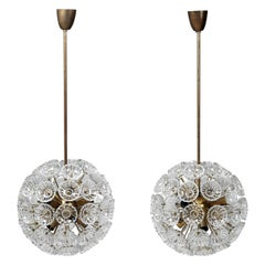 Pair of Ceiling Lamps Designed by Carl Fagerlund for Orrefors, Sweden, 1960s