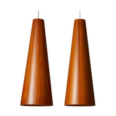 Pair of Ceiling Lamps Designed by Jörgen Wolff for Christian A. Wolf, Denmark