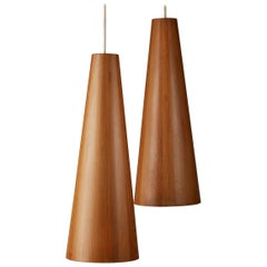 Pair of Ceiling Lamps Designed by Jörgen Wolff for Christian A. Wolff, Denmark